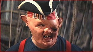 The poster child for pregnancy after age 70, Chunk was the last fail safe plot device in case you didn't get the point of the movie.